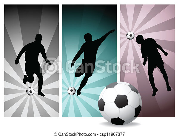 Vector Soccer Players - csp11967377