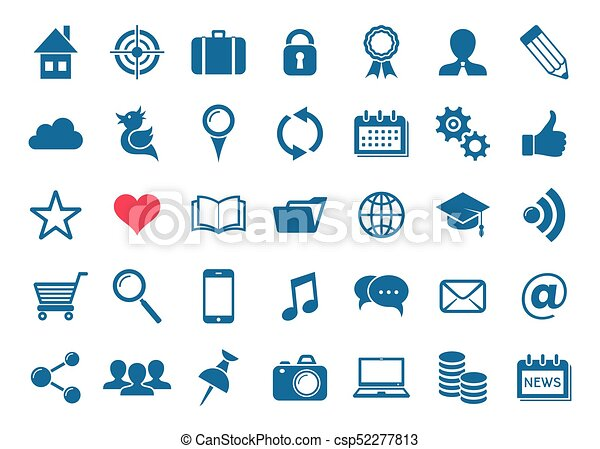Vector social media and website icons - csp52277813