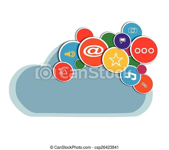 vector social media - csp26423841