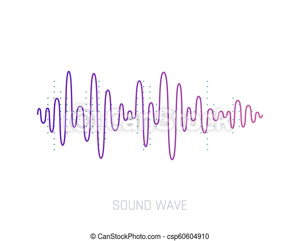 Vector Sound Wave  Colorful sound waves for party, DJ, pub, clubs, discos   Audio equalizer technology  Vector illustration