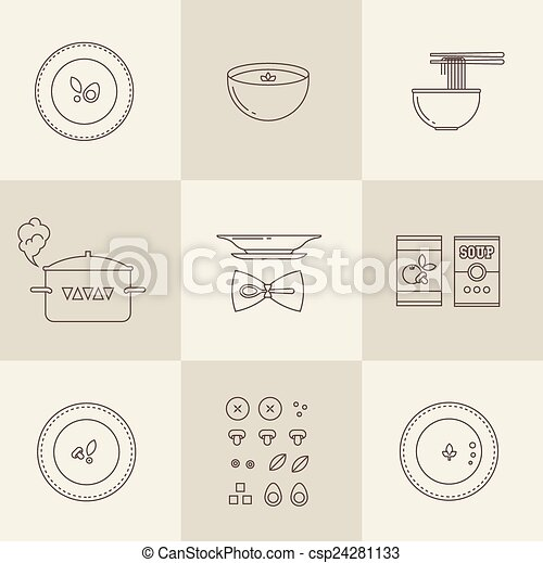 Vector soup icon - csp24281133