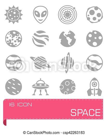 Vector Space icon set - csp42263183