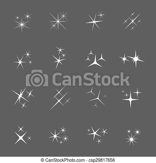 Vector sparkles icon set - csp29817656