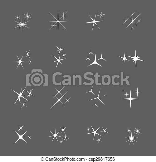 Vector sparkles icon set - csp29817656