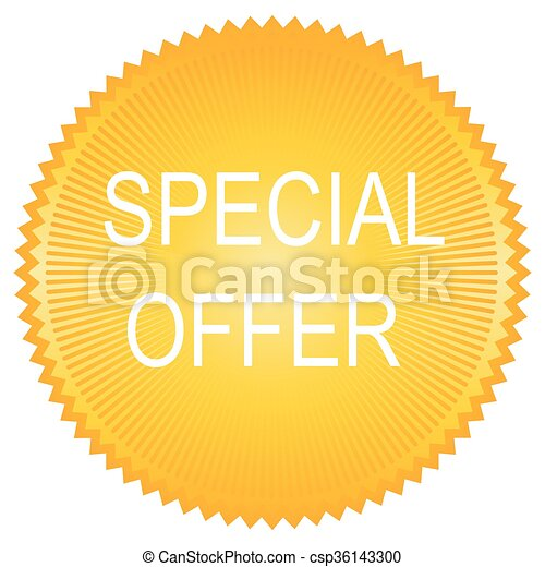 Vector special offer label - csp36143300