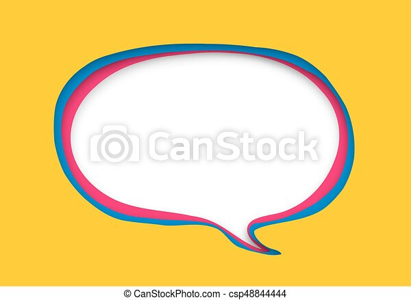 vector speech bubble in paper cut style eps vector search clip rh canstockphoto com free vector comic speech bubbles free vector speech bubbles illustrator
