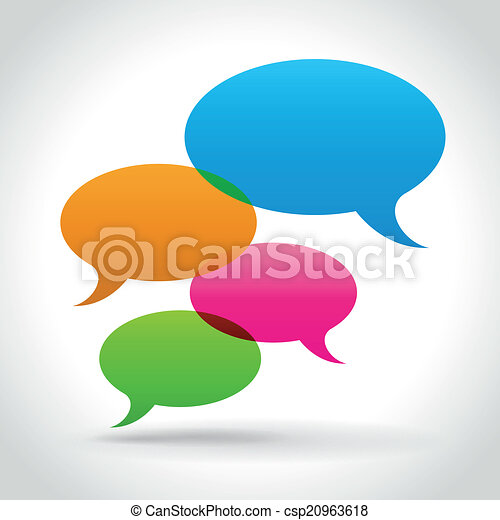 Vector speech bubbles - csp20963618