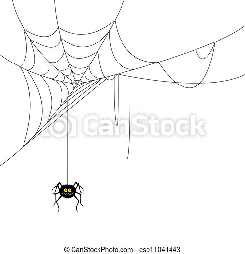 Vector Spider and a Web - csp11041443