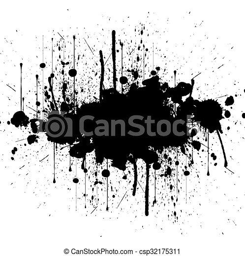 vector splatter black color background illustration design