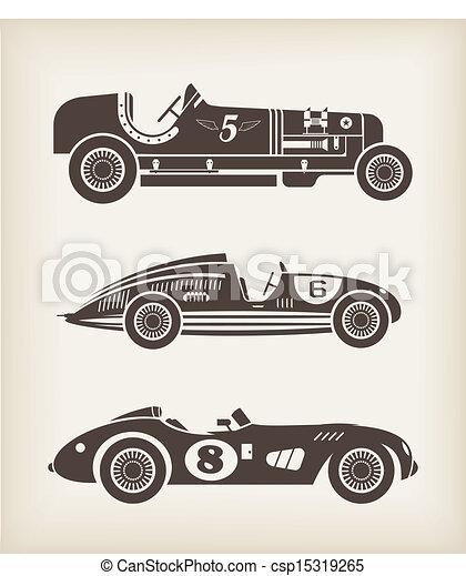 Vector sport vintage racing cars - csp15319265