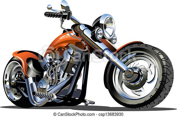vector, spotprent, motorfiets - csp13683930