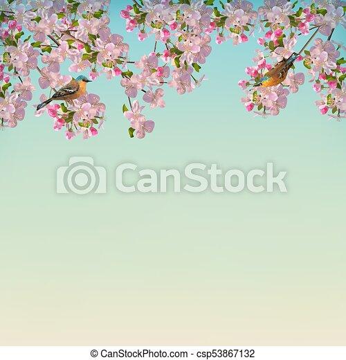 Vector Spring Background - csp53867132