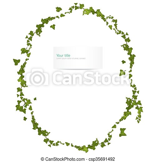 Vector spring frame with ivy - csp35691492