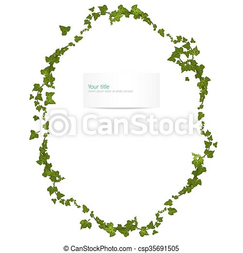 Vector spring frame with ivy - csp35691505