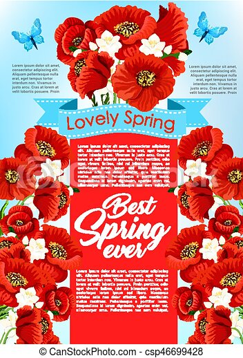 Vector spring time flowers for greeting poster spring holiday vector spring time flowers for greeting poster mightylinksfo