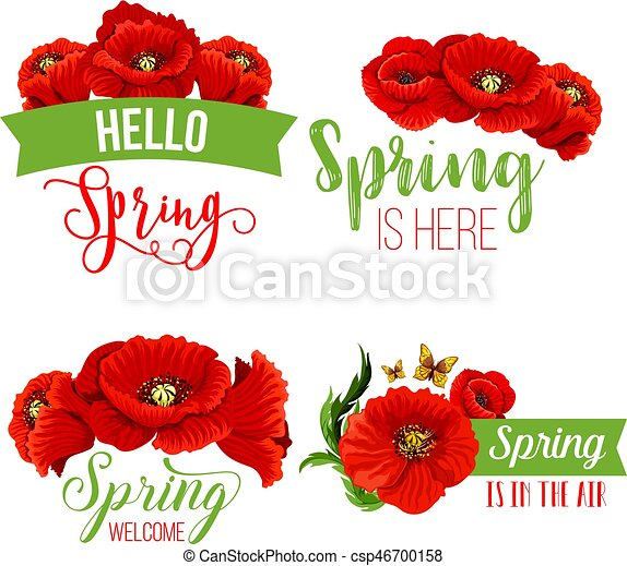 Vector spring time greeting quotes poppy flowers springtime quotes vector spring time greeting quotes poppy flowers mightylinksfo