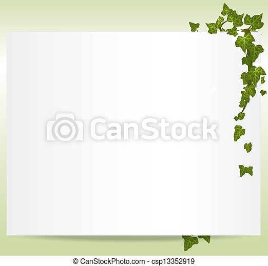 Vector spring/summer frame with ivy leaves - csp13352919