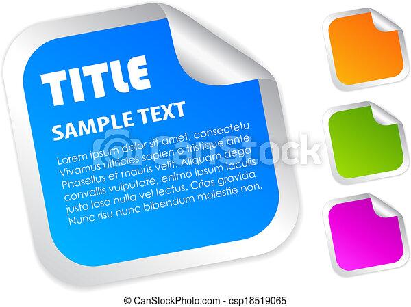 Vector square label - csp18519065