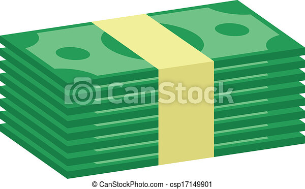 vector stack of money icon rh canstockphoto com Money Graphics Paper Money Clip Art