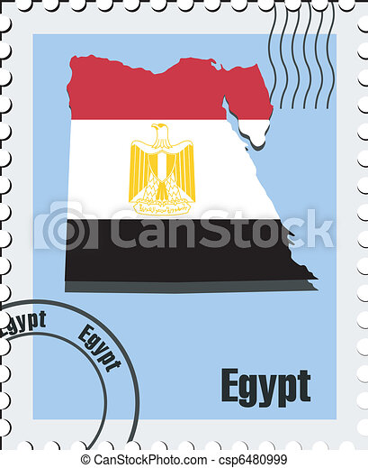 vector stamp of Egypt - csp6480999