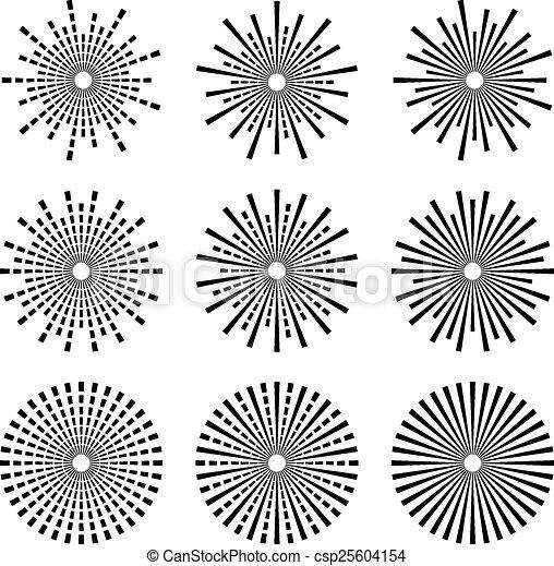 vector starbursts black symbols - csp25604154
