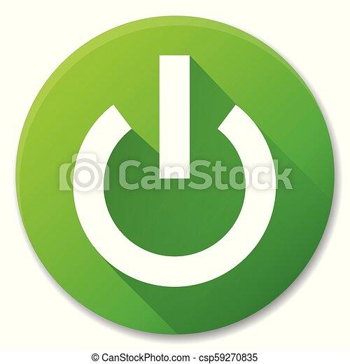 Vector start green circle icon - csp59270835
