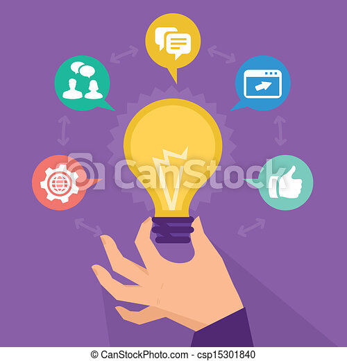 Vector start up concept - social me - csp15301840