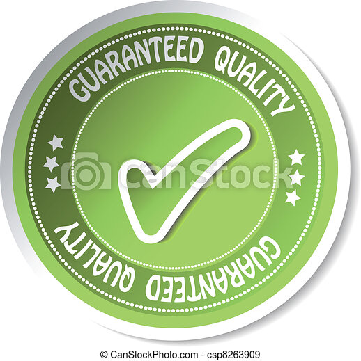 Vector sticker - guaranteed quality - csp8263909