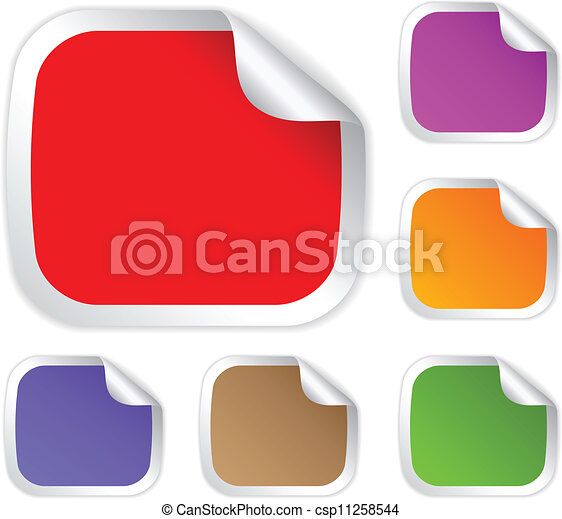 Vector stickers collection - csp11258544