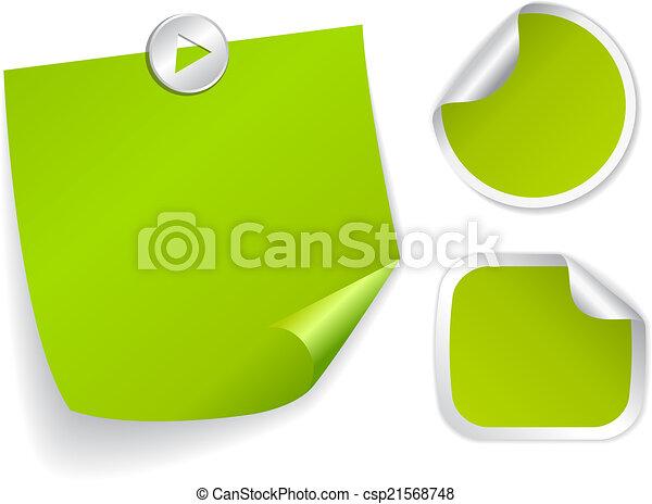 Vector stickers - csp21568748