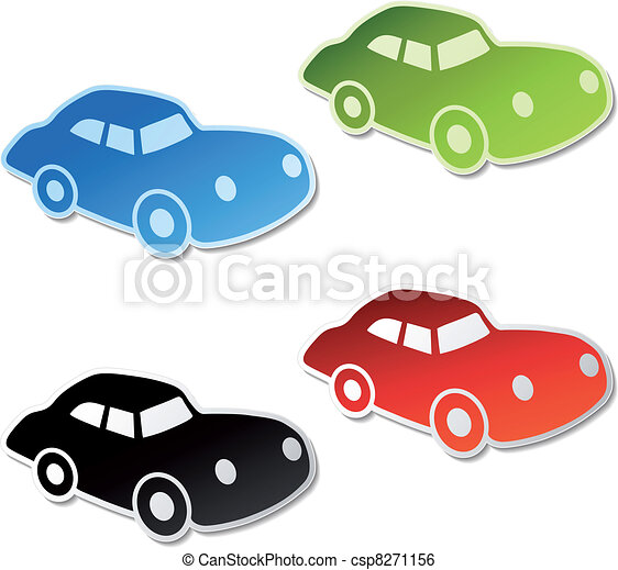 Vector stickers of car - csp8271156