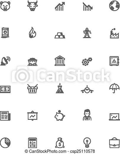 Flat Line Stock Market Vector Ilration Modern Thin Li Stroke Icons