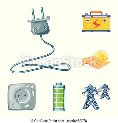 Objeto aislado y símbolo orgánico. Colección de vectores solares y icono para acciones. - csp66453076