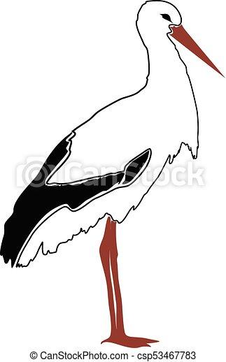 vector stork silhouette outline vector search clip art rh canstockphoto com stock vector art stock vector logo