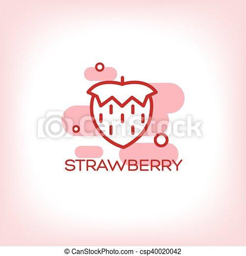 Vector Strawberry flat Icon - csp40020042