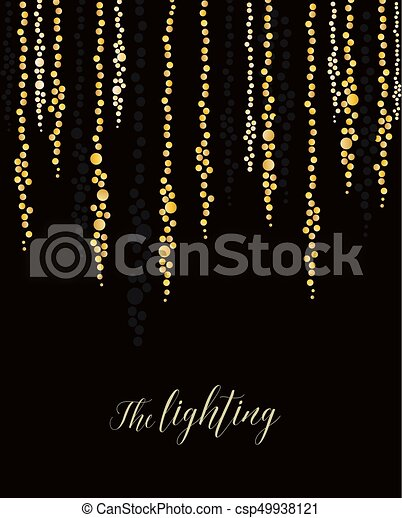 String Lights Clipart Gorgeous Vector String Lights Vector Illustration Of Light Cords On A Dark