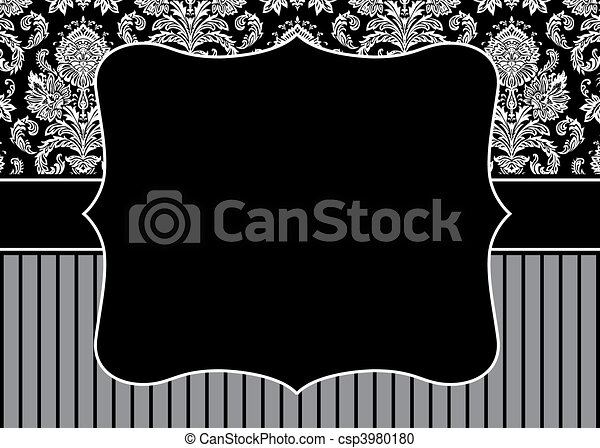 Vector Stripe Pattern and Frame - csp3980180