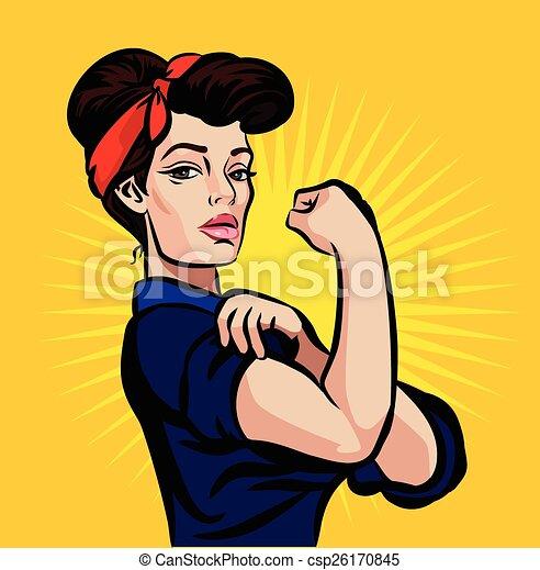Vector strong pin up girl  - csp26170845