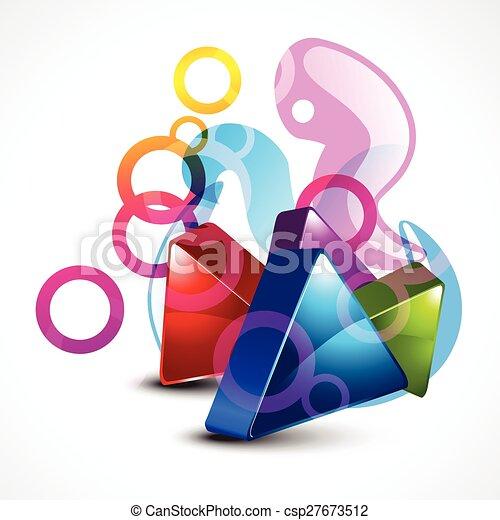 vector stylish 3d shape design - csp27673512