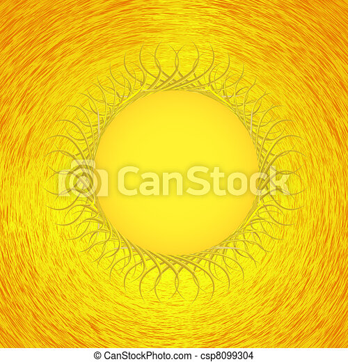 Vector sun background. Only for your design - csp8099304