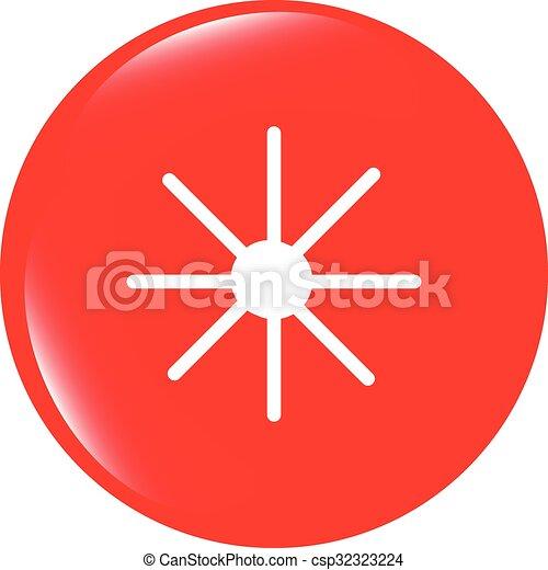 vector Sun icon on round button collection original illustration - csp32323224