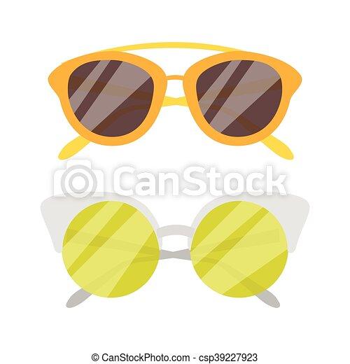 Vector Sunglasses icon set - csp39227923