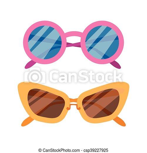 Vector Sunglasses icon set - csp39227925