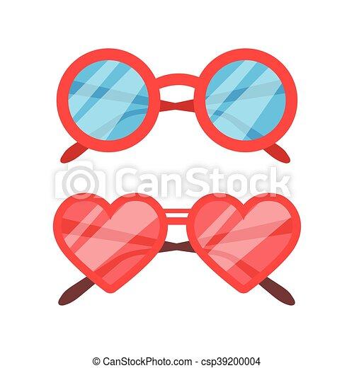 Vector Sunglasses icon set - csp39200004