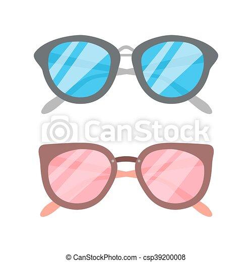Vector Sunglasses icon set - csp39200008