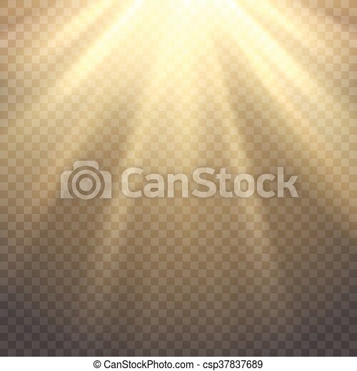 Vector Sunlight On Transparent Background