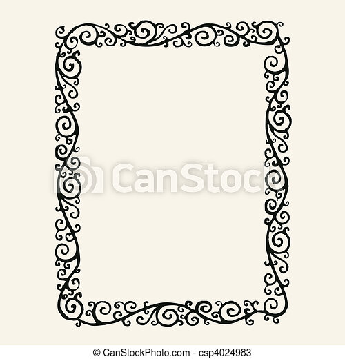 Vector swirl frame. Detailed illustrated frame. easy to edit and ...