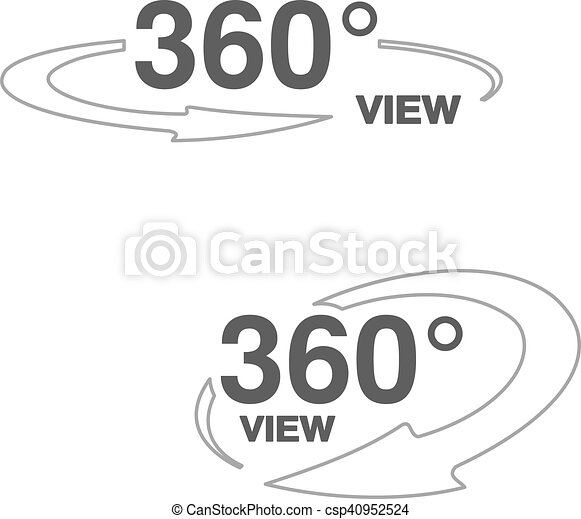 Vector Symbols For Virtual Tour Oval Labels With Line Arrow And