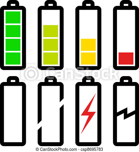 vector symbols of battery level - csp8695783