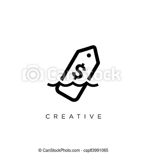 vector, symbool, fles, boodschap, logo, ontwerp, pictogram - csp83991065